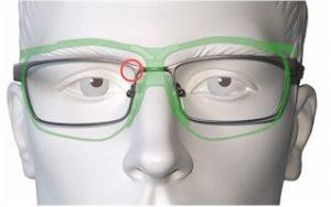 Sehfeld Dynamik-Brille im Vergleich zu normaler Brille