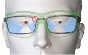 Jäger mit Gleitsichtbrille unscharfe Bereiche