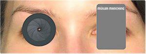 dunkle Abdeckscheibe für Schießbrille