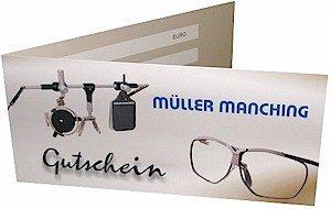 gutscheine merchandising brillen m ller manching. Black Bedroom Furniture Sets. Home Design Ideas