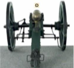 Zielbild Kanone - Scheibe scharf (falsch)