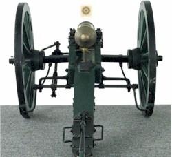Zielbild Kanone - nur Rohr scharf (falsch)