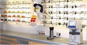 An unseren Messstand im Untergeschoss sind fast alle Schießbrillenmodelle ausgestellt.