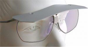 Stirnschild als Regen- und Blendschutz (klicken zum Vergrößern)