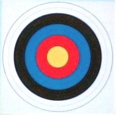 Bogenscheibe ohne Farbsäume