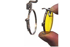 Anbringung des Filters bei Schießbrillen