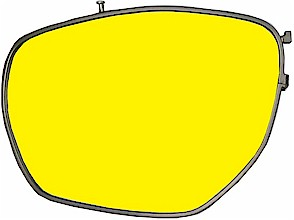 Brillenglas der Dynamik-Brille in Filterfarbe