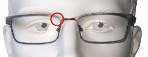 Einschränkung des Sehfelds beim Schießen mit einer normalen Brille