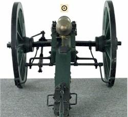 Zielbild Kanone - Rohr und Scheibe scharf (optimal)