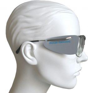 Schießbrille Blende Seitenblenden für normale Brillengestelle /& Schutzbrillen