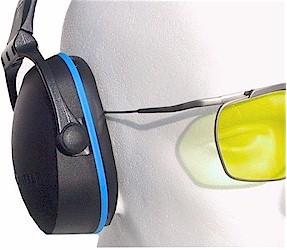 Das schlanke Bügelende der Dynamik ist bei Gehörschutz besonders angenehm.