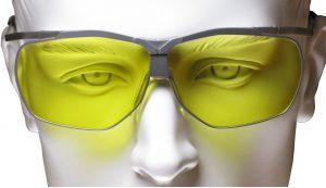 Die Dynamik-Schießbrille mit direkter Verglasung.